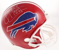 "Jim Kelly Signed Bills Full-Size Throwback Helmet Inscribed ""HOF '02"" (Prova COA) at PristineAuction.com"