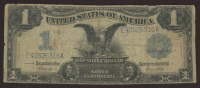 "1899 $1 One Dollar ""Black Eagle"" U.S. Silver Certificate Large Size Bank Note at PristineAuction.com"