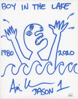 """Ari Lehman Signed """"Friday the 13th"""" 8x10 Canvas With Hand-Drawn Sketch & Multiple Inscriptions (JSA COA) at PristineAuction.com"""