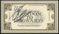 "Daniel Radcliffe Signed ""Harry Potter"" Hogwarts Express Railway Ticket (PSA COA) at PristineAuction.com"