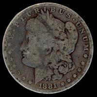 1881 Morgan Silver Dollar at PristineAuction.com