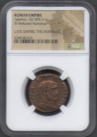 Galerius Roman Bronze Coin AD 305-311 (NGC Encapsulated) at PristineAuction.com