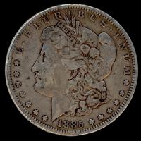 1885 Morgan Silver Dollar at PristineAuction.com