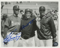 Willie Mays, Barry Bonds & Ken Griffey Jr. Signed 8x10 Photo (Triumph Sports Hologram) at PristineAuction.com