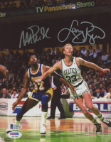Larry Bird & Magic Johnson Signed 8x10 Photo (Beckett COA & PSA COA) at PristineAuction.com
