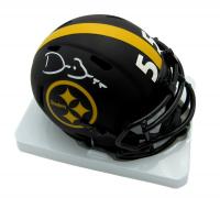 Devin Bush Signed Steelers Eclipse Alternate Mini Speed Helmet (Beckett COA) at PristineAuction.com