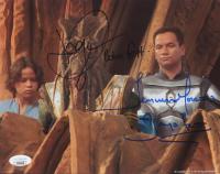 "Daniel Logan & Temuera Morrison Signed ""Star Wars"" 8x10 Photo Inscribed ""Boba Fett"" & ""Jango Fett"" (JSA COA) at PristineAuction.com"