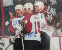 "Eric Lindros, John LeClair & Mikael Renberg Signed Flyers ""Legion of Doom"" 16x20 Photo (JSA COA) at PristineAuction.com"