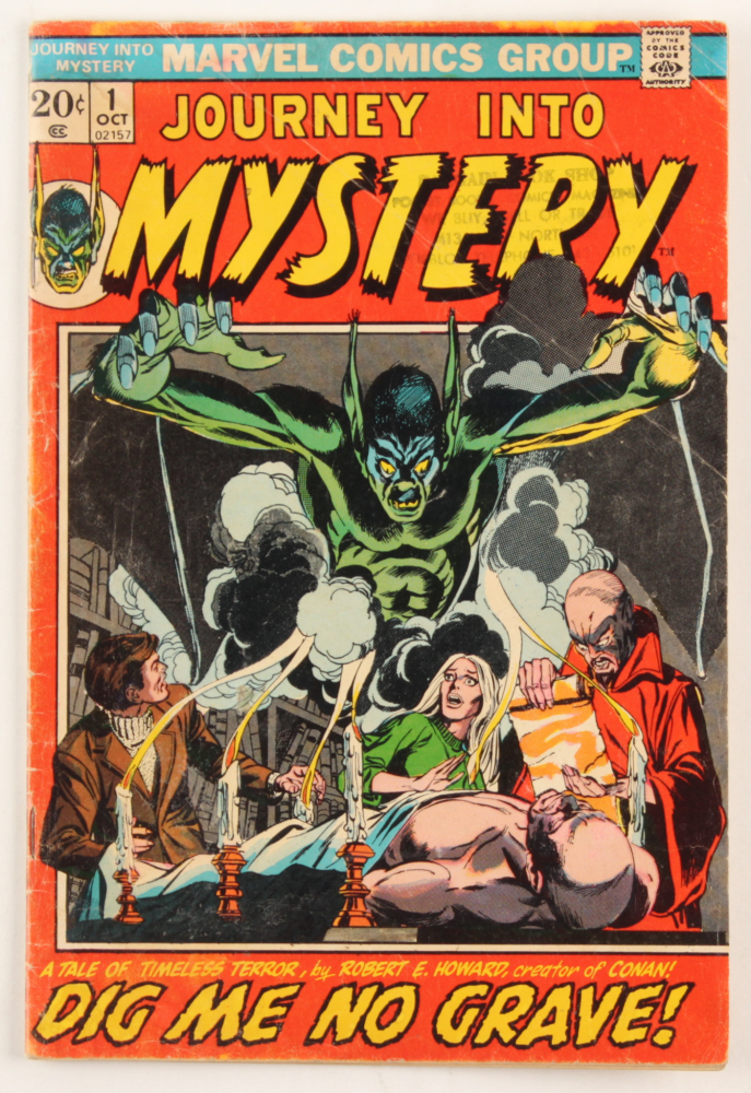 """1972 """"Journey Into Mystery"""" Issue #1 Marvel Comic Book at PristineAuction.com"""