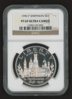 1996-P Smithsonian Commemorative Proof $1 Dollar Coin (NGC PF 69 Ultra Cameo) at PristineAuction.com