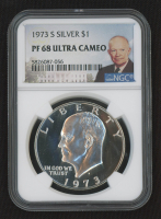 """1973-S Eisenhower """"Ike"""" $1 Dollar Coin (NGC PF67UCAM) at PristineAuction.com"""