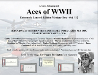 "Always Autographed ""Aces of WWII"" Mystery Box at PristineAuction.com"