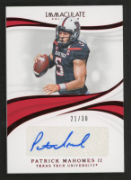 Patrick Mahomes II 2019 Immaculate Collection Collegiate Red #80 Autograph at PristineAuction.com