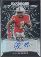 J.K. Dobbins 2020 Leaf Metal Draft Touchdown Kings Prismatic Black #TKJKD at PristineAuction.com