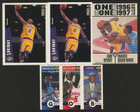 Lot of (4) Kobe Bryant Basketball Cards with 1996-97 Collector's Choice #267 RC, 1996-97 Collector's Choice #361 Kobe Bryant / Shareef Abdur-Rahim, 1996-97 Collector's Choice Mini-Cards #M129 Kobe Bryant / Jermaine O'Neal / Kevin Garnett at PristineAuction.com