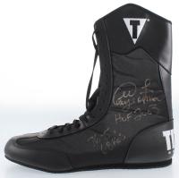 "George Foreman Signed Title Boxing Shoe Inscribed ""HOF 2003"", ""76-5"", & ""68 KO's"" (JSA COA) at PristineAuction.com"