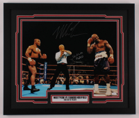 "Mike Tyson & Evander Holyfield Signed ""The Bite Fight"" 22x26 Custom Framed Photo Display (JSA COA) at PristineAuction.com"