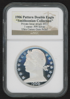 """2011 """"Smithsonian Collection"""" 1906 Pattern Double Eagle 1 Ounce .999 Fine Silver Coin (NGC Gem Proof - Ultra Cameo) at PristineAuction.com"""