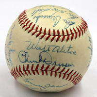 1958 Dodgers ONL Baseball Team-Signed by (20) with Sandy Koufax, Gil Hodges (JSA LOA) at PristineAuction.com