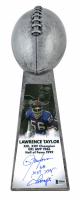 "Lawrence Taylor Signed Giants 15"" Lombardi Football Championship Trophy Inscribed ""SB XXI XXV Champs"" (Beckett COA) at PristineAuction.com"