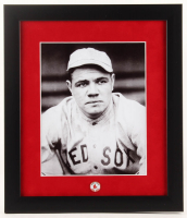 Babe Ruth Red Sox 13x15 Custom Framed Photo Display with Red Sox Pin at PristineAuction.com