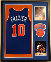 Walt Frazier Signed 34x42 Custom Framed Jersey (JSA COA) at PristineAuction.com