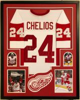 "Chris Chelios Signed 34x42 Custom Framed Jersey Inscribed ""HOF 2013"" (JSA COA) at PristineAuction.com"