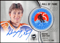 Wayne Gretzky 2018-19 The Cup Hockey Hall of Fame Anniversary 75/25 Patch Autographs #HOFWG at PristineAuction.com