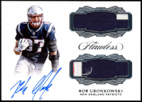Rob Gronkowski 2019 Panini National Convention Black Box 2017 Flawless #DPRG Jersey Autograph at PristineAuction.com