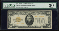1928 $20 Twenty-Dollar U.S. Gold Certificate Bank Note (PMG 30) (AA Block) at PristineAuction.com
