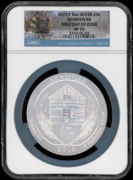2015-P 5 oz Silver Jumbo 25¢ - Homestead - Nebraska - America The Beautiful - ATB - Jumbo Quarter - First Day of Issue (NGC SP 70) at PristineAuction.com
