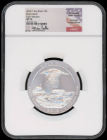 2018-P 5 oz Silver Jumbo 25¢ - Block Island - Rhode Island - America The Beautiful - ATB - Jumbo Quarter - Signed by Coinage Congressman Mike Castle - Early Releases (NGC SP 70) at PristineAuction.com