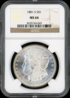 1881-S $1 Morgan Silver Dollar (NGC MS 66) at PristineAuction.com