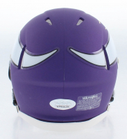 Irv Smith Jr. Signed Minnesota Vikings Matte Purple Speed Mini Helmet (JSA COA) at PristineAuction.com