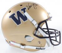 "Warren Moon Signed Washington Huskies Full-Size Helmet Inscribed ""HOF 06"" (Beckett COA) at PristineAuction.com"
