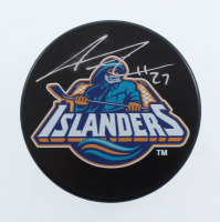 Anders Lee Signed Islanders Logo Hockey Puck (YSMS COA) at PristineAuction.com