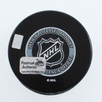 David Pastrnak Signed 2016 Winter Classic Logo Hockey Puck (YSMS COA) at PristineAuction.com