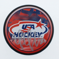 Tim Thomas Signed USA Hockey Logo Hockey Puck (YSMS COA) at PristineAuction.com
