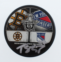 Torey Krug Signed 2013 Stanley Cup Playoffs Logo Hockey Puck (YSMS COA) at PristineAuction.com