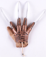 "Heather Langenkamp Signed ""A Nightmare on Elm Street"" Freddy Krueger Replica Glove Inscribed ""Nancy"" (Beckett COA) at PristineAuction.com"