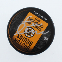 Zdeno Chara Signed 2011 Stanley Cup Champions Logo Hockey Puck (YSMS COA) at PristineAuction.com