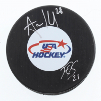 Hilary Knight & Amanda Kessel Signed Team USA Logo Hockey Puck (Sports Collectibles Hologram & JSA COA) at PristineAuction.com