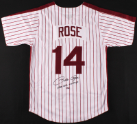 "Pete Rose Signed Jersey Inscribed ""1980 W. S. Champs"" (Rose Hologram) at PristineAuction.com"