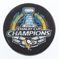 Kris Letang Signed Penguins 2016 Stanley Cup Champions Logo Hockey Puck (JSA COA, Letang & Sports Collectibles Hologram) at PristineAuction.com
