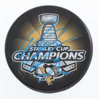 Patric Hornqvist Signed Penguins 2017 Stanley Cup Champions Logo Hockey Puck (JSA COA & Sports Collectibles Hologram) at PristineAuction.com