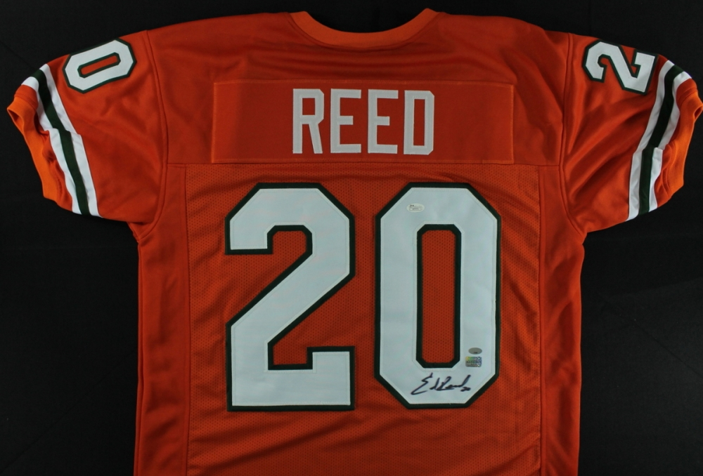 9758ac7e62d Ed Reed Signed Miami Jersey (AAA) at PristineAuction.com