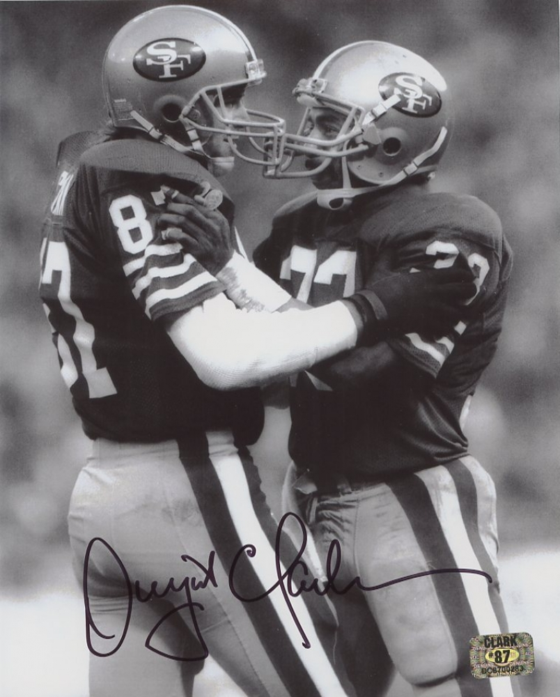 Dwight Clark Signed 49ers 8x10 Photo with Roger Craig (Clark Hologram) at  PristineAuction.