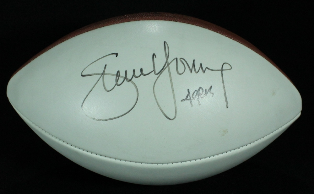4124563d9b0 Steve Young Signed Football Inscribed