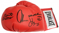 Sugar Ray Leonard, Thomas Hearns & Roberto Duran Signed Everlast Boxing Glove (PSA COA) at PristineAuction.com
