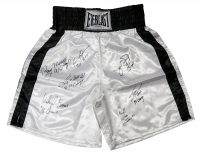 """Heavyweight Champions Everlast Boxing Trunks Signed by (7) with James """"Buster"""" Douglas, Ray Mercer, Tony Tubbs, Michael Moorer With Multiple Inscriptions (Schwartz COA) at PristineAuction.com"""